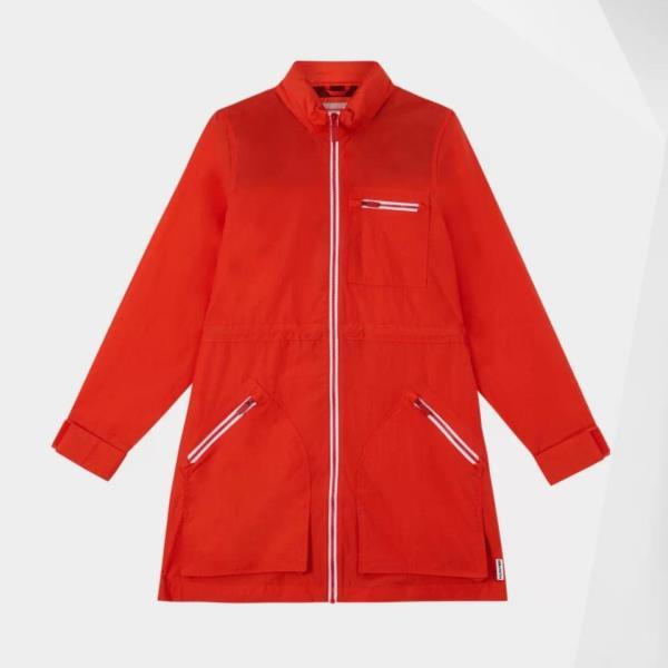 ジャケット レディース コート レディース ウィンドブレーカー レディース W ORI NYLON PARKA LAVA RED 【HUN】