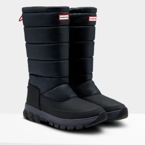 長靴 メンズ レインブーツ メンズ レインシューズ MENS ORIGINAL INSULATED SNOW BOOT TALL BLACK 【HUN】【QCB02】