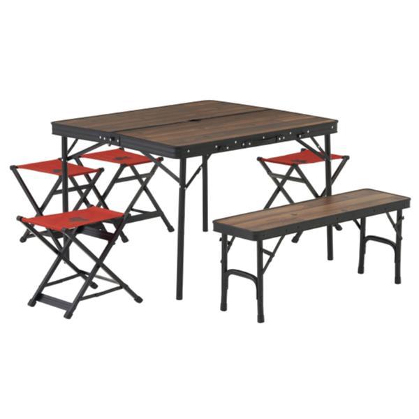 ロゴス テーブル おしゃれ 椅子 セット テーブル おしゃれ 椅子 セット テーブルセット 73188034 Tracksleeper ベンチandチェアテーブルセット6 【HN】【QCB27】