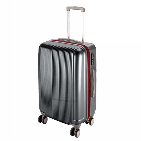 CS スーツケース(TSAロック付きダブルファスナータイプ) S/スチールグレー (AP189938/UV-30)【 UV-0030 】【UV-0030】