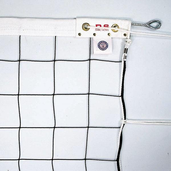 6人制バレーボールネット 新規格Wカバーダイニーマロープ240 (JS199443/D-6336)【QBI35】