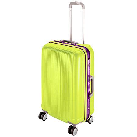 グレル トラベルスーツケース(TSAロック付きHFタイプ)(L/アップルグリーン) (AP212808/UV-0013)【 UV-13 】