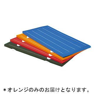 連結再生ノンスリップマット オレンジ (90×180×5cm) T-2824V (JS221822)【送料区分:7】【QBI35】