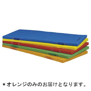 エコカラー合成スポンジマット 5cm厚90×180×5cm オレンジ T-1111V (TOL230961)【送料区分:7】【QBI25】