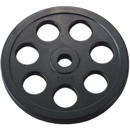 穴付ラバーバーベルプレート28 15kg (DAN235956/D5014)【QBI25】