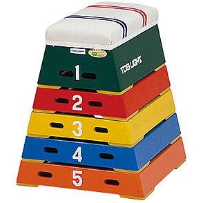 カラー跳箱5段(小)T-2572 特殊送料:ランク【10】【TOL】, eco家具:ad38370c --- zagifts.com
