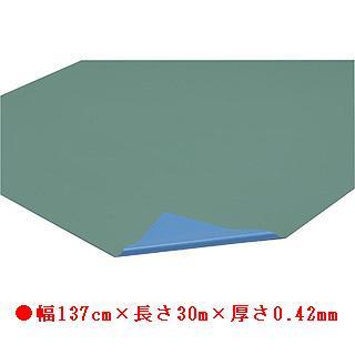 フロアシート 42-30M(ライトグリーン×ブルー) T-2577 (JS78304)【送料区分:7】