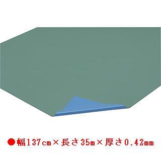 フロアシート 42-35M(ライトグリーン×ブルー) T-2578 (JS78305)【送料区分:8】【QBI35】