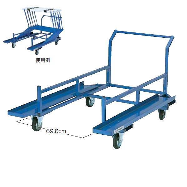 体育館用品 運搬車 大会 陸上 ハードル運搬車ED EGA146 特殊送料【ランク:L】 【ENW】 【QCA25】