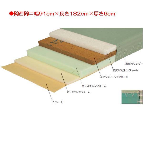 柔道用畳軽量すべり止付(関西間) EKR0062 (JS83553)【送料区分:2G】【QBI35】