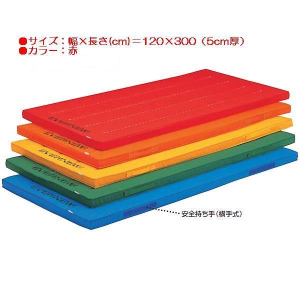 エコ・カラーコンビマットすべり止付(枚)(赤) EKM018 (JS83793)【送料区分:E】【QBI25】