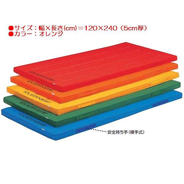 エコ・カラーマットすべり止付(枚)(オレンジ) EKM007 (JS83849)【送料区分:D】【QBI35】