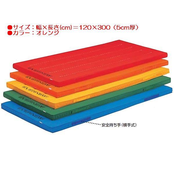 エコ・カラーマットすべり止付(枚)(オレンジ) EKM008 (JS83854)【送料区分:E】【QBI25】
