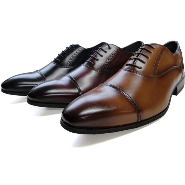 【送料無料】 内羽ビジネスシューズ ストレートチップ レース 大きいサイズ 28cm 紳士靴 メンズ 黒 ブラウン ワインレッド ドレス JC KLUGER 合成皮革 24.5cm 25cm 25.5cm 26cm 26.5cm 27cm 28cm