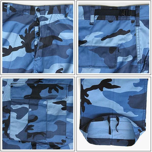 出售 ROTHCO rothco BDU 裤天蓝色男装 6 口袋迷彩 rothco 迷彩把这 ROTHCO 军队迷彩伪装图案男士休闲货物裤子 T 衬衫袋男士时尚休闲街放在特隆赫姆,滑冰