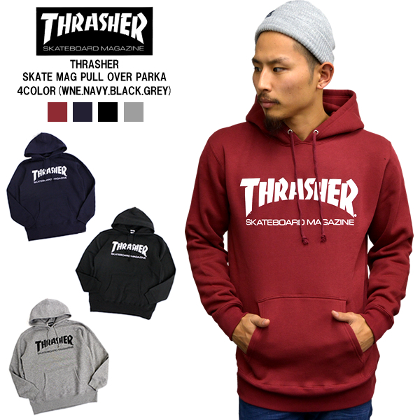 a93b47d7a7fe THRASHER   Thrasher pull Parker THTASHER MAG LOGO pullover 4 color men s  fashion tops outer small pullover Hoodie autumn winter mens winter fall  back ...