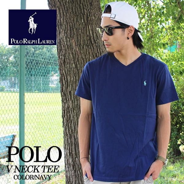 -POLO RALPH LAUREN Polo Ralph Lauren V neck tee Navy 710538134002 short  sleeve T shirt V neck cotton fine fit American traditional Ralph Lauren  Polo Ralph ... 2403919864c4