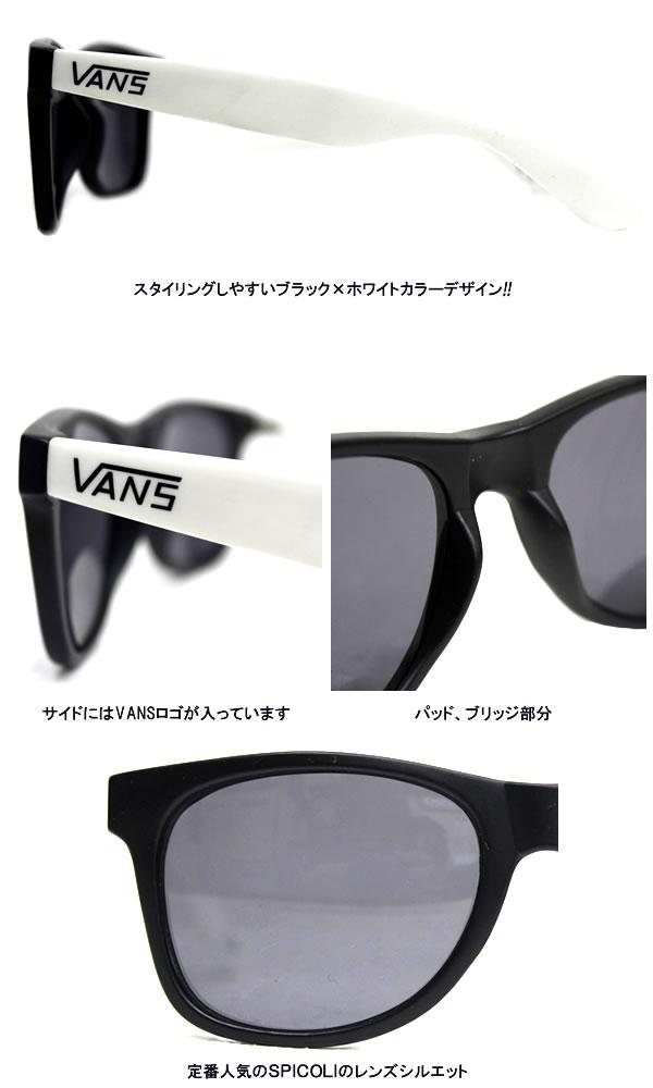 836548eb93 fieldline  VANS   vans sunglasses SPICOLI 4 SHADE Black×White ...