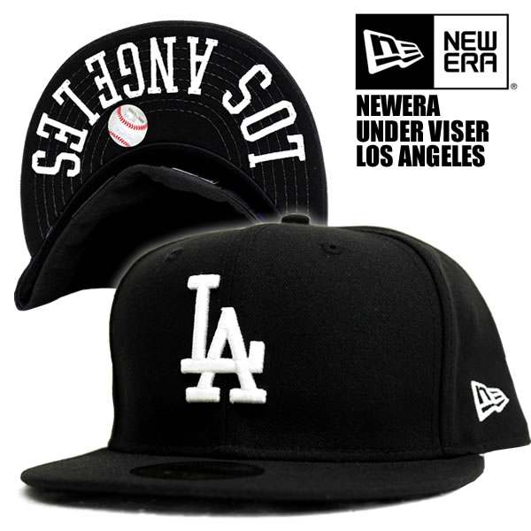NEWERA   embroidery under visor black Los Angeles Dodgers new era 59FIFTY x  white MLB official HIPHOP dance popular caps cap Hat mens Cap Snapback Luc  Hat ... 32192da291c