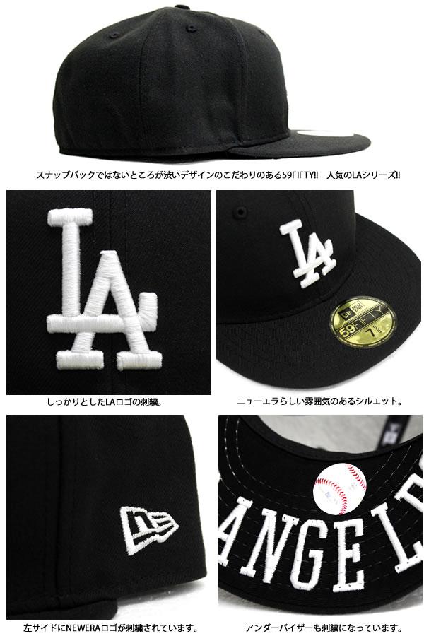 NEWERA   embroidery under visor black Los Angeles Dodgers new era 59FIFTY x  white MLB official HIPHOP dance popular caps cap Hat mens Cap Snapback Luc  Hat ... 56eb02f92