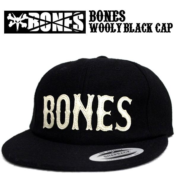 BONES bones snap back BONES WOOLY HAT STRAPBACK BLACK black Stacy Peralta  BONES BRIGADE skater history skate board brand men s fashion casual street  in ... b1baf5fed67