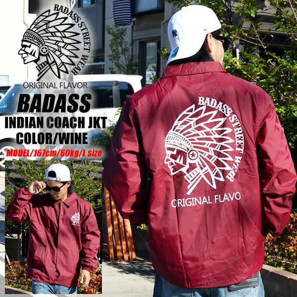 more photos 9b9fe 9b2f0 BADASS badass Indian coach jacket Indian logo Burgundy fashion tops outer  small batting windbreaker jacket coat ...
