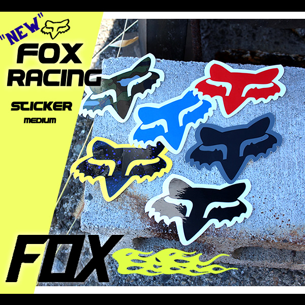 Fox Mens Head-4 Sticker