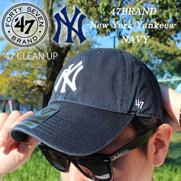 77f95ab1e855a Hip-hop same day shipment of 47BRAND fourteen seven brand MLB NEW YORK  YANKEES New York Yankees CLEAN UP cap CAP hat hat men gap Dis fashion  street skater ...