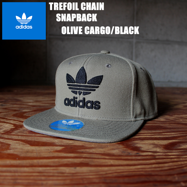 43784b8f884 アディダストレフォイルスナップキャップオリーブ X black adidas originals TREFOIL CHAIN CAP CH7295  fashion accessory