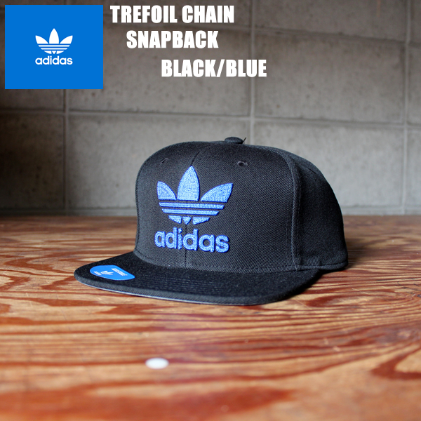 aa1e5b5ba35a1 アディダストレフォイルスナップキャップ black X blue adidas originals TREFOIL CHAIN CAP CH7297  fashion accessory