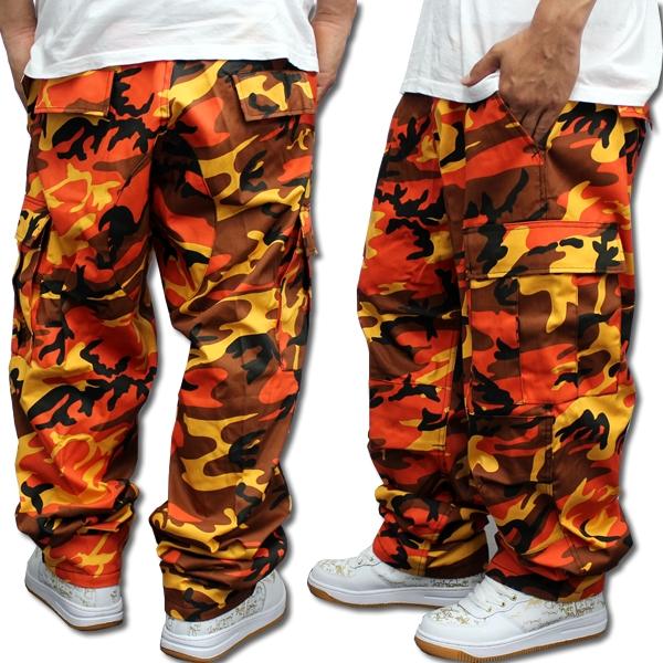 ROTHCO rothco BDU cargo pants Orange Camo men s 6 Pocket Camo rothco Camo  put this ROTHCO ARMY Camo camouflage pattern men s casual cargo pants T  shirt bag d3b3279623c