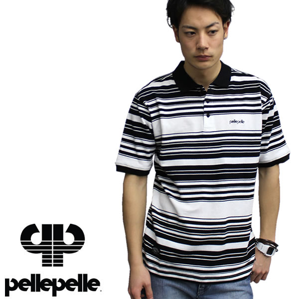 d5908f00 PELLEPELLE EURO / prepare euro short-sleeved polo shirt black PM3831501  hiphop B-large ...