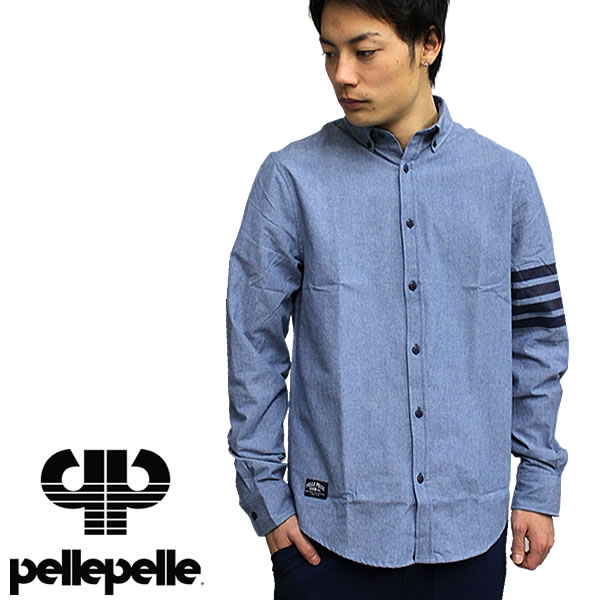 d3652c27 PELLEPELLE / prepare long-sleeved shirt button-down shirt number PM8001501 hiphop  B series ...