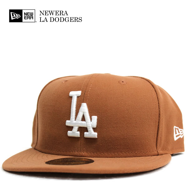 802334174 NEWERA / new era 59 FIFTY Los Angeles Dodgers wheat / white MLB official  HIPHOP dance ...