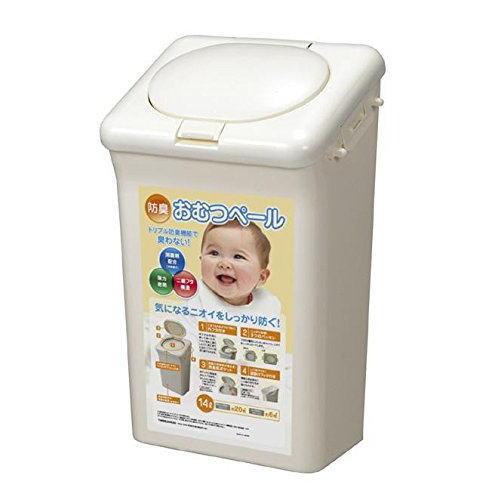 二重のフタとパッキンでバッチリ ついに入荷 送料無料 新作からSALEアイテム等お得な商品 満載 防臭おむつペール14L 消臭剤ポケット付き におい対策はこれで安心 防臭ペール ゴミ箱