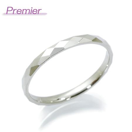 文字入れ無料! Premier(プルミエ)/モデルヌ メンズ リング 10金ホワイトゴールド K10WG