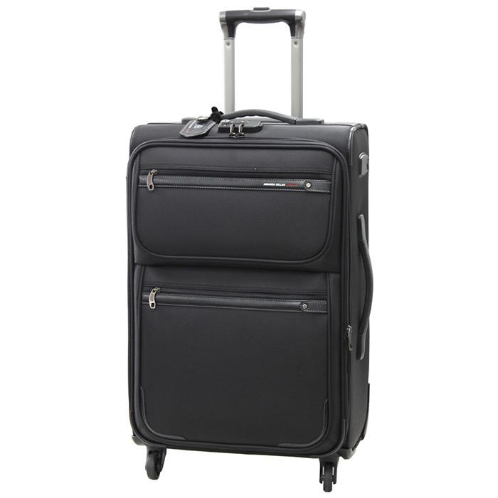 即納 送料無料 大容量スーツケース ソフトスーツケース Mサイズ 中型 大容量 マット加工 61~69L 軽量スーツケース キャリーバッグ 4輪 キャスター キャリーケース tsaロック 2色展開