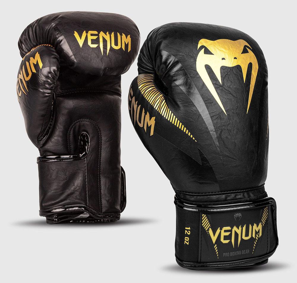 VENUM ヴェヌム インパクト ボクシンググローブ 黒ゴールド マジックテープ式