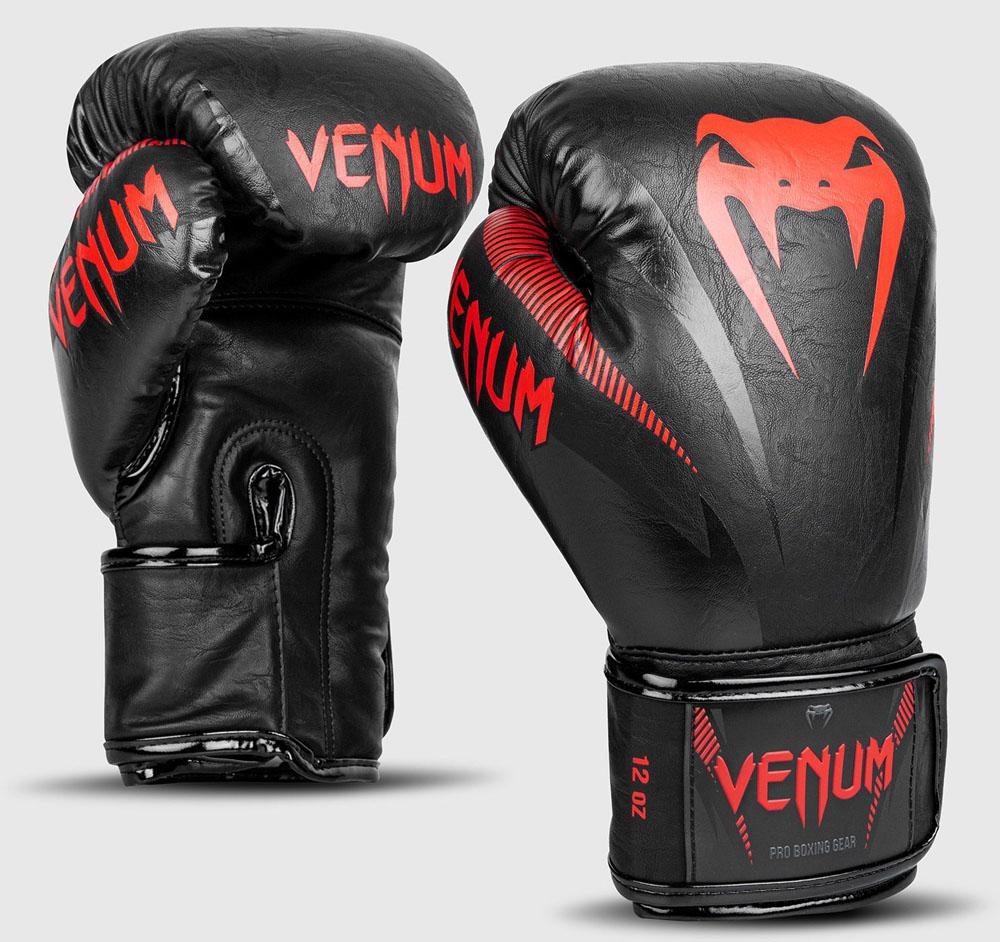 VENUM ヴェヌム インパクト ボクシンググローブ 黒レッド マジックテープ式