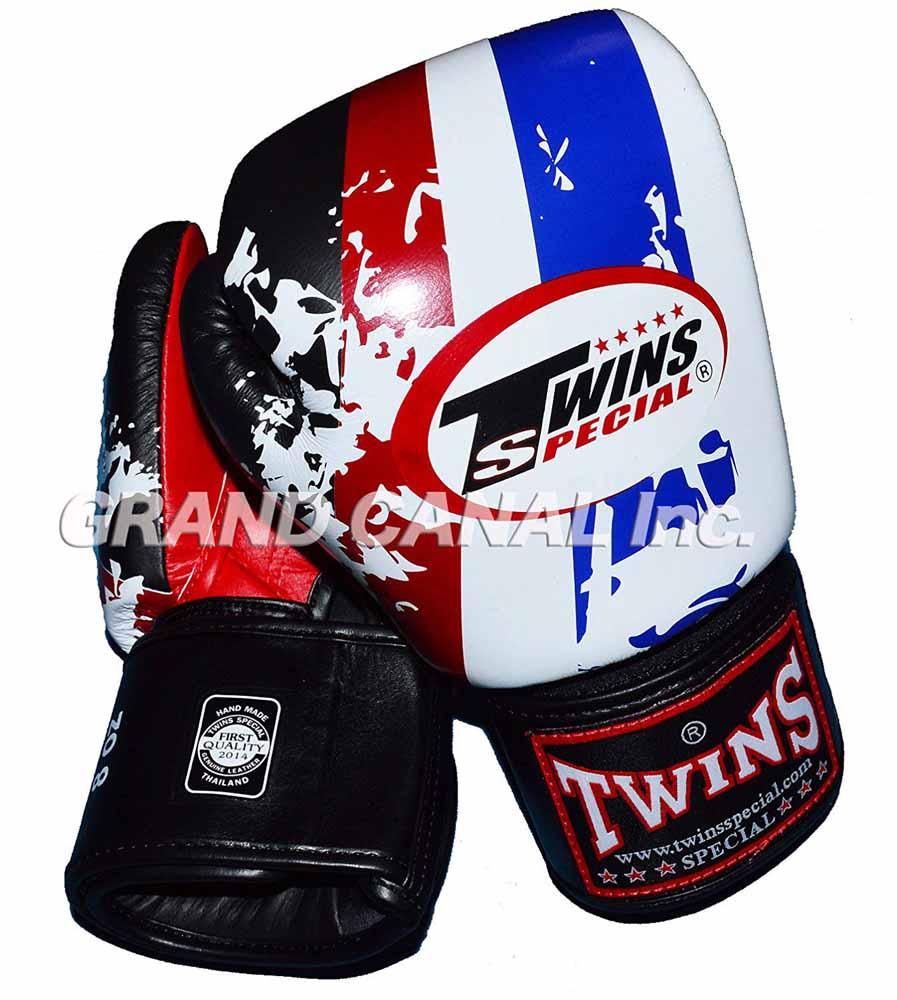 TWINS本革製ボクシンググローブ トリコロール 16oz マジックテープ式 年中無休 ユーロカラー 特価キャンペーン