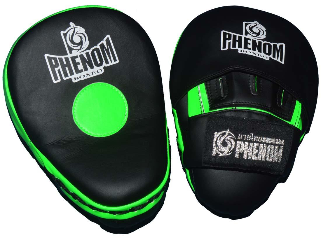 PHENOMフェノム 軽量湾曲パンチミット PHFM2 黒グリーン 1ペア