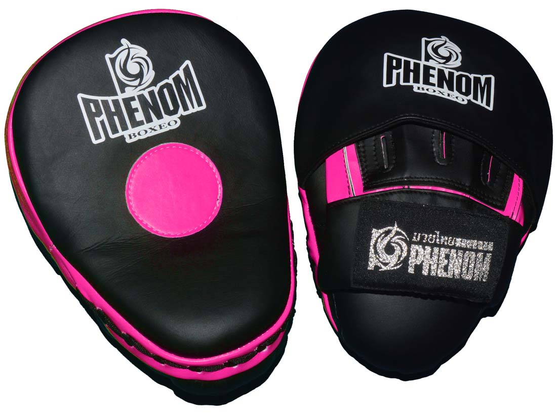 PHENOMフェノム 軽量湾曲パンチミット PHFM2 黒ピンク 1ペア