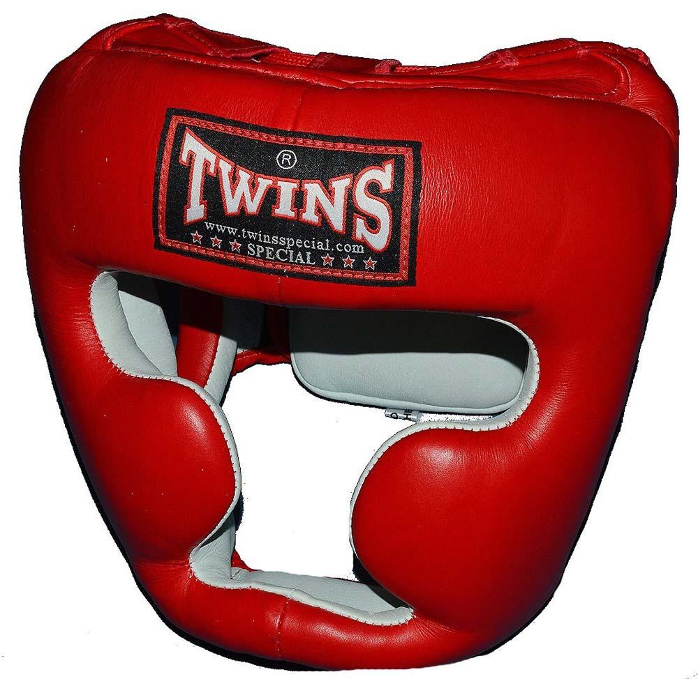 TWINSツインズ 本革製ヘッドギア S、M 赤 / キッズサイズあり