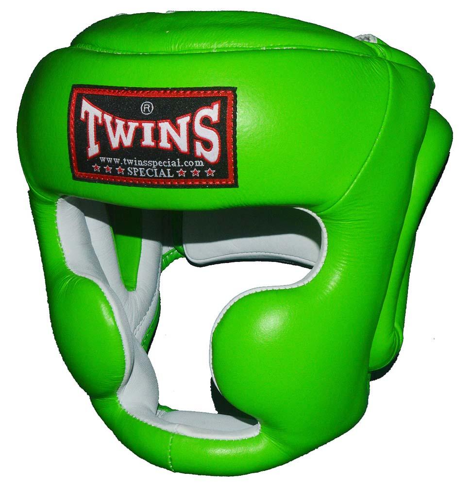 TWINSツインズ 本革製ヘッドギア S、M ライムグリーン / キッズサイズあり