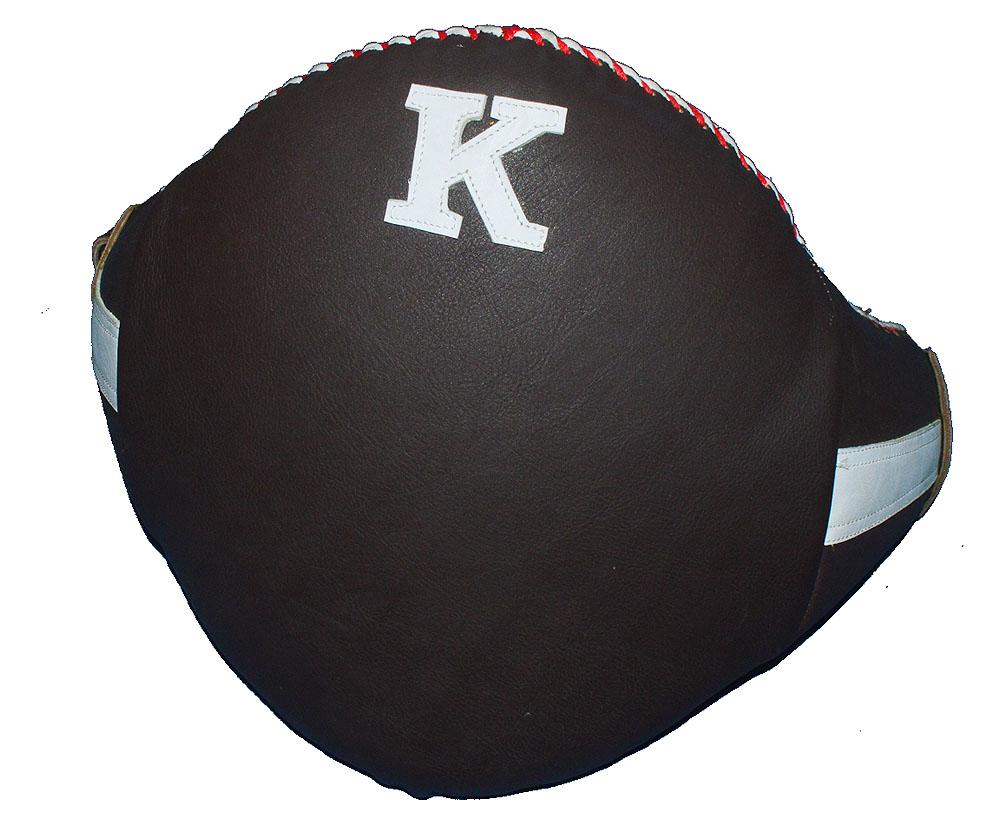 K 本革製ベリープロテクター M、L/キックボクシング、空手、ムエタイ名品