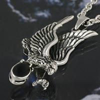 オニキス イーグル 鷲 シルバーアクセサリー メンズ シルバーペンダント ネックレス シルバー925 メンズアクセサリー プレゼントに人気 送料無料