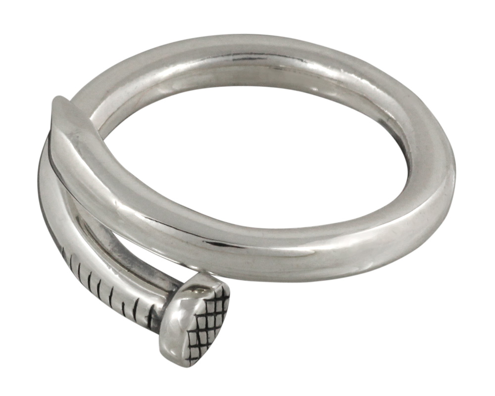 FIGMART スパイク シルバー リング シルバーアクセサリー fr0393 当店限定販売 アクセサリー シルバーリング シルバー925 ユニセックス メンズ フリーサイズ ユニーク 指輪 釘 クギ レディース 安心の定価販売