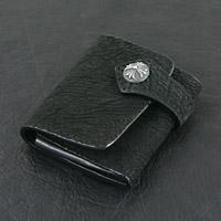シャークスキン 牛革 コインケース レザーウォレット 革財布 シルバー925 クロス コンチョ メンズアクセサリー シルバーアクセサリー プレゼントに人気 送料無料