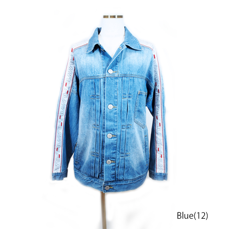 FM9422 R1st JacketR1ジャケット男女兼用 UNISEX 2018秋冬デニム Denim Blue Indigo FILA(フィラ)