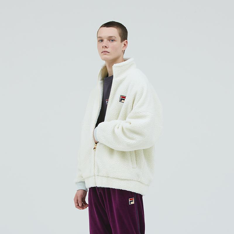 FM9451 Full zip jacket フルジップジャケット 男女兼用 UNISEX 2018秋冬 Lambs Wool Black FILA(フィラ)